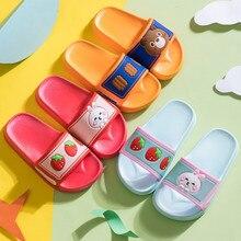 Girls Cartoon Slippers Kids Summer Slipper Casual Non-Slip House Shoes Toddler Home Slipper Boys Beach Flip Flops Pantuflas