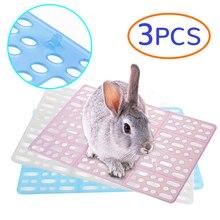 Пластиковые сетки коврик для ног для домашних животных Кролик морская свинка кошка мышь подстилка клетка коврик для туалета