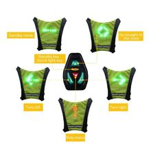Cycling Vest LED Wireless MTB Bike Bag Safety Turn Signal Light Bicycle Reflective Warning with Remo