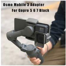 Camera Handheld Adapter Mount Holder for DJI OSMO Mobile 3 Transfer for GoPro 5/6/7 Camera(China)