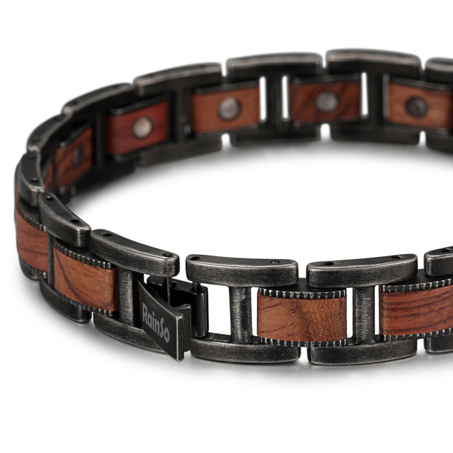 H85fc51d5b00642ab9f3768db7e54b6f4c - Men's Wrist Bracelet Zebrawood Magnetic Health Care