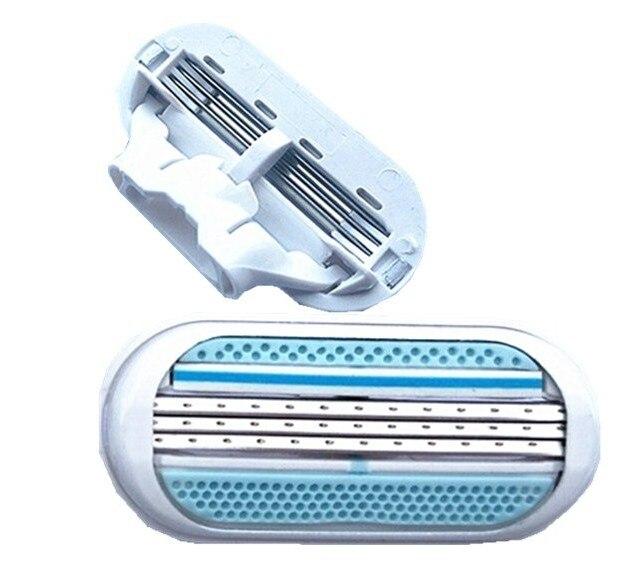 HOT 4pcs Shaving Blades For Women Safety Female Sharpener Razor For Razor Blade For Shaving 3 Layers Blade