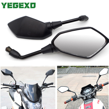Black Motorcycle Mirror Bike Side Mirrors Accessories For BMW RETROVISOR R1150RT GS 310 GS 650 R1100GS R850R GS 1250 GS 1200 LC image