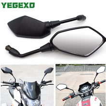 Black Motorcycle Mirror Side Mirrors Accessories For YAMAHA BANSHEE TMAX 530 XJ600 BLASTER DRAG STAR 400 TRACER 700 RAPTOR 700