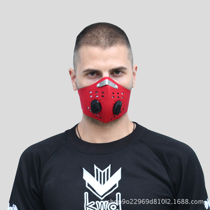 Manufacturers Customizable Pattern PM2.5 Activated Carbon Mask With Breather Valve Riding Breathable Anti-fog Haze Dust Respirat