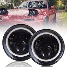 รถ Led ไฟหน้า7นิ้ว Led สำหรับ Lada Niva 4X4 Uaz Hunter สำหรับ Land Rover Defender สำหรับ Nissan Patrol Y60สำหรับ Mazda Miata MX5