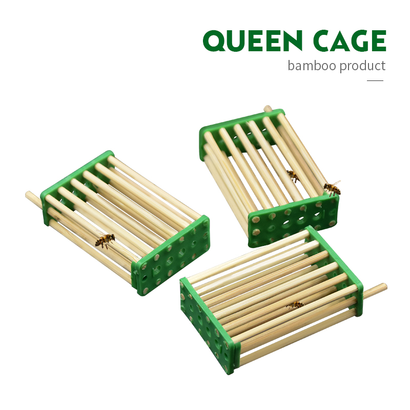 3pcs Bee Tool Queen Cage Beekeeping Tools Durable Bamboo Multifunction Queen Caged Prisoners Bees Nest Hive Beekeeping Equipment