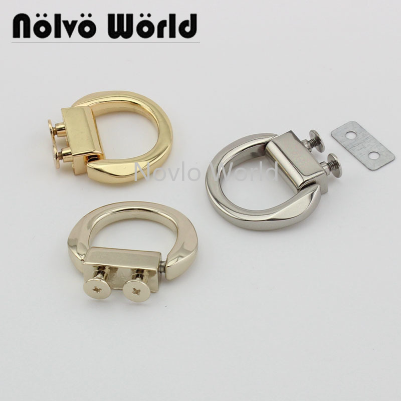 2 Pieces Test,  3 Colors, Metal Hanger Connects For Handbags Tassel Squre Buckle Screws Handles Hardware Accessories