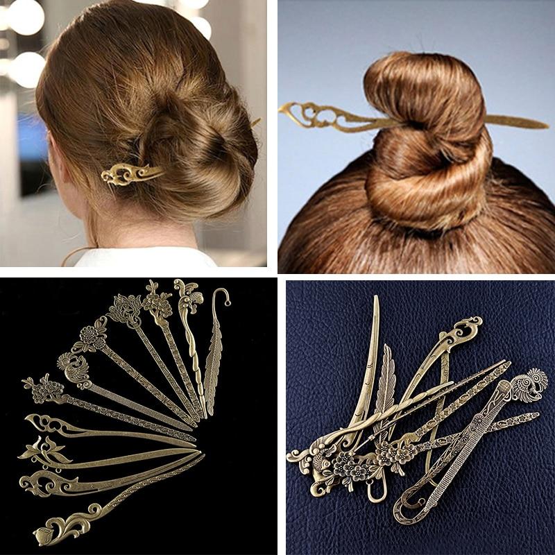 New Bronze Vintage Hair Sticks Variety Styles Headbands For Women Elegant Lady Hair Pin Fashion Alloy Hair Clip Hair Accessories