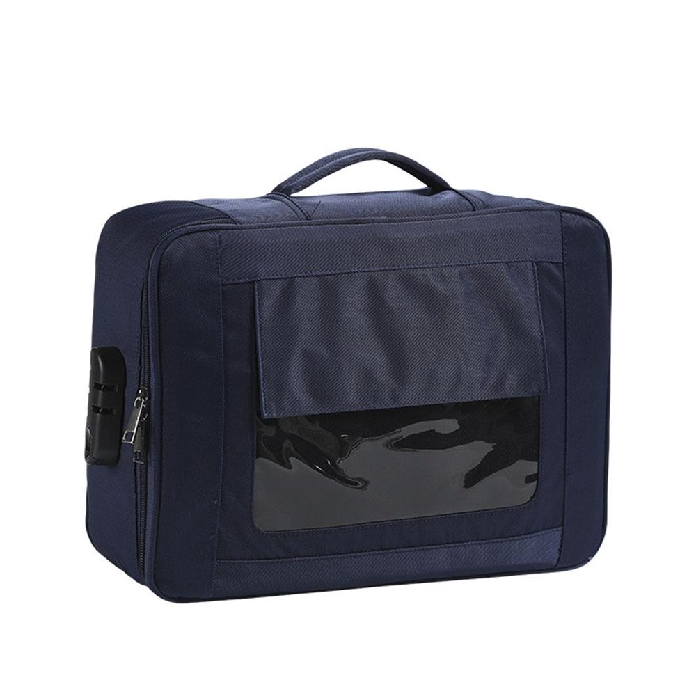 Large Capacity Document File Bag Case Portable Certificate Storage Bag With Lock  Diploma Storage File Bag Multifunction Handbag