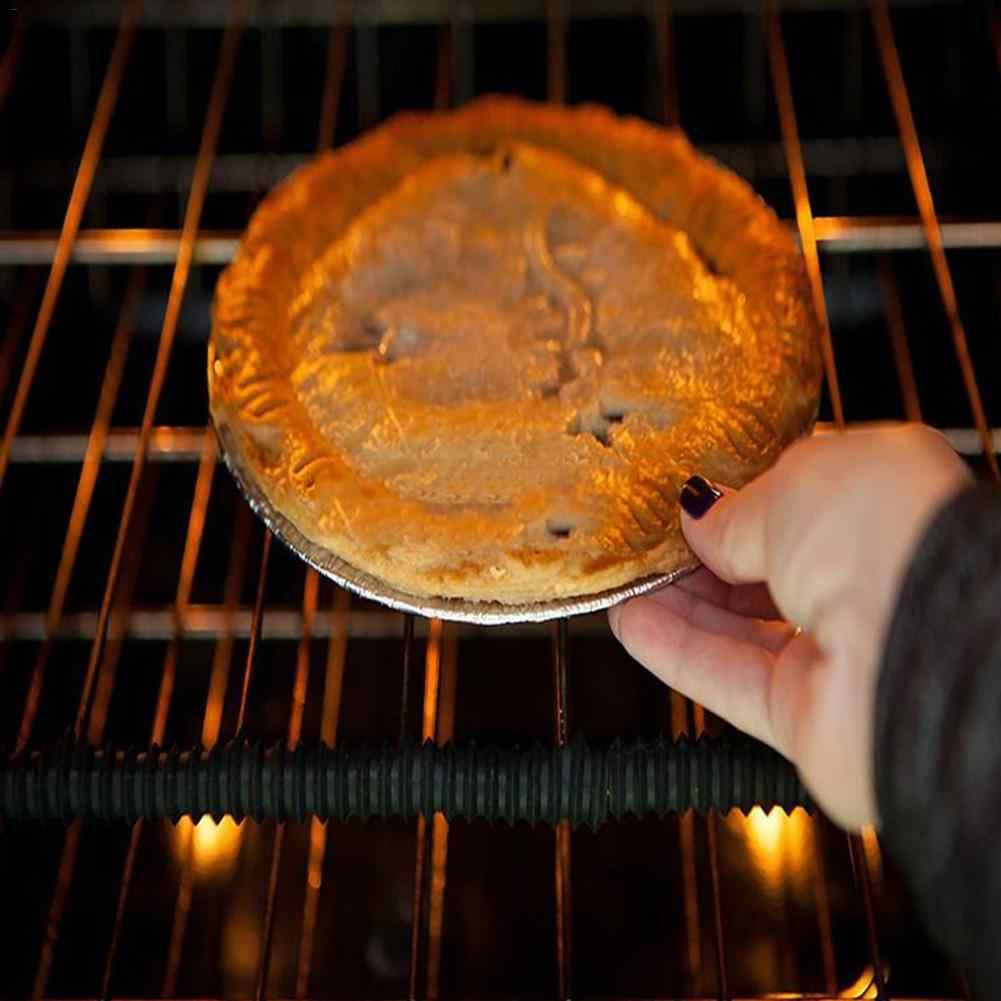 35.7cm grau alimentício silicone rosqueado resistente ao calor forno rack protetor de borda guarda capa forno microondas geladeira barra anti-quente