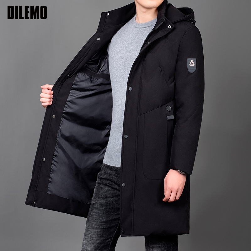 2019 Winter Thick Fashion Brand Jackets Mens Long Korean Streetwear Parkas Quilted Jacket Puffer Bubble Coats Men Clothing