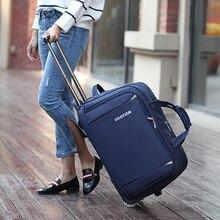 Новинка, портативный светильник, сумка на колесиках, для багажа, Оксфорд, для мужчин, для путешествий, для переноски, чемодан, для женщин, большая емкость, складной багаж с колесиками