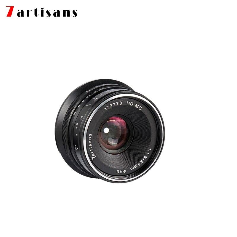 7artisans 25mm f1.8 objectif principal à toutes les séries simples pour E Mount Canon EOS-M Mout Micro 4/3 caméras A7 A7II A7R livraison gratuite - 4
