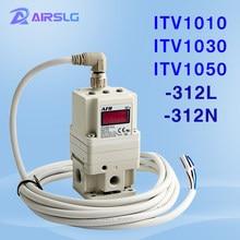 Itv válvula solenóide proporcional itv1010 regulador de vácuo eletrônico regulador pneumático regulador proporcional itv1030 itv1050