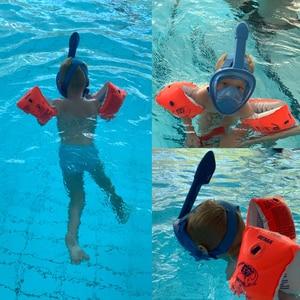 Image 5 - Professional Children Snorkel Diving Mask for kids Swimming Training Full Face Mask Scuba Equipment mergulho For Gopro Camera