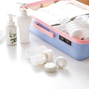 Image 4 - 4 pièces/boîte presse portable rechargeable bouteille voyage joint shampooing douche gel boîte de rangement cosmétique bouteille vide