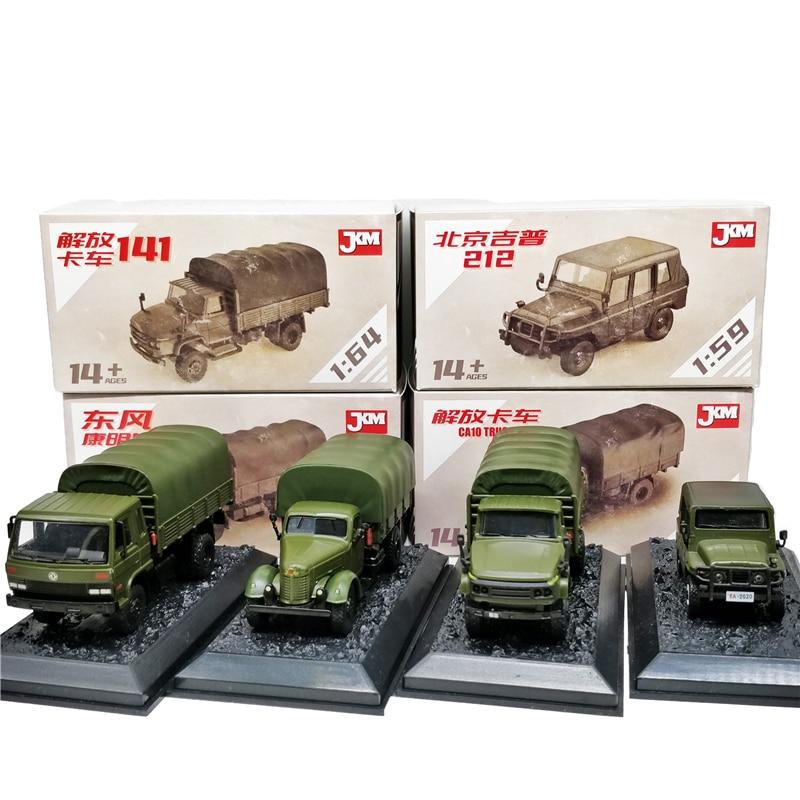 Jackiekim 1:64 China Military Vehicle JieFang CA10 Truck/CA141 Truck/DongFeng Cummins Truck/1:59 Beijing Jeep 212