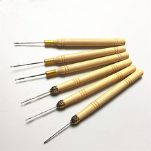 3pcs/set Crochet hooks needles with wooden handle crochet Sew Wig hair extension Tools knitting accessories