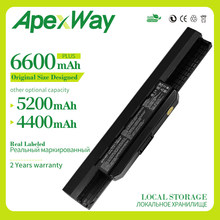 Apexway 6cell laptop battery A32-K53 for Asus A43 A43E A53S K43E K43U K43S K43SJ K53 K53T K53S K53SV X54 X54H X44H(China)