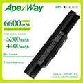 Apexway 6 A32-K53 батареи для ноутбука Asus A43 A43E A53S K43E K43U K43S K43SJ K53 K53T K53S K53SV X54 X54H X44H