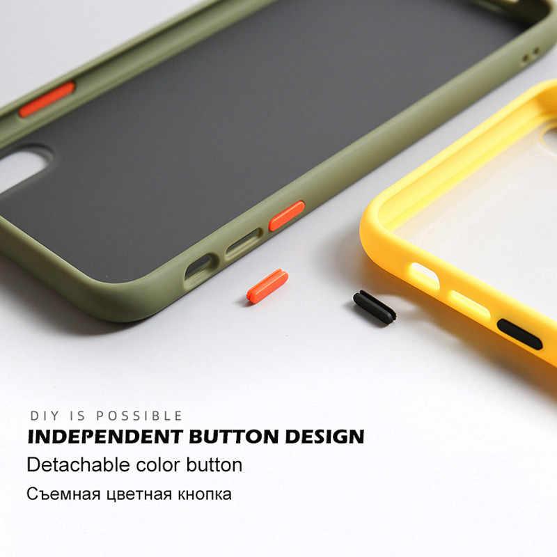 INIU простой матовый чехол-бампер для телефона Ударопрочный Мягкий силиконовый чехол из ТПУ карамельного цвета для iPhone 11 Pro X XR XS Max 6 7 8 Plus