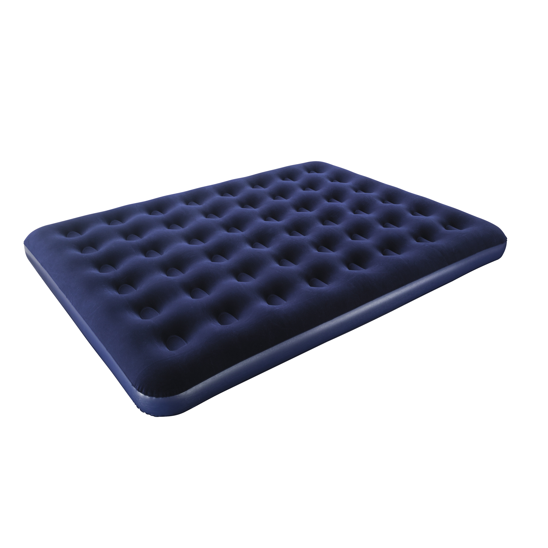 Mattress Inflatable Double флокированный 203x152x22 Cm, Blue, Bestway Queen, Item No. 67003