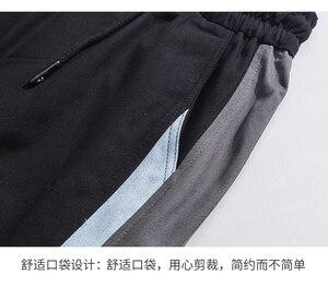 Image 4 - Hip Hop Harem erkekler Joggers pantolon 2020 erkek pantolon siyah koşucu pantolonu elastik bel rahat pantolon erkek Jogger