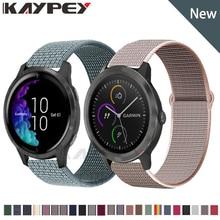 Utkany Nylon pasek do pętli dla Garmin Vivoactive 3 h Venu poruszać się 3 Luxe smartband z zegarkiem bransoletka dla Forerunner 645 music pasek do zegarka