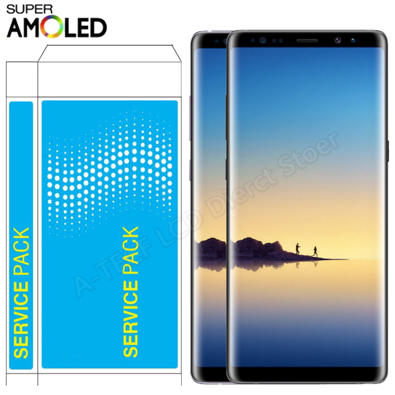 Super AMOLED <font><b>N950F</b></font> LCD <font><b>For</b></font> <font><b>Samsung</b></font> <font><b>Note</b></font> <font><b>8</b></font> LCD Display Touch <font><b>Screen</b></font> With Frame Assembly <font><b>For</b></font> <font><b>Samsung</b></font> <font><b>Note</b></font> <font><b>8</b></font> SM-N950 LCD Repair image