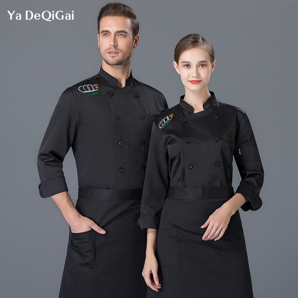 Unisex Restaurant uniforms shirts Food Service chef clothes High Quality catering kitchen cooking chef jacket Factory sales new image