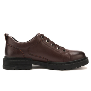 Image 2 - CAMEL automne en cuir véritable hommes chaussures angleterre affaires robe décontracté confortable papa chaussures hommes grand cuir chevelu chaussures antidérapantes