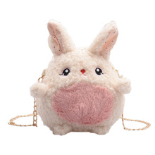 New Cartoon Plush Backpack Baby Purses Mini Fashion Mobile Phone Bag and Cosmetic Bag Kids Plush Toys Autumn and Winter Backpack