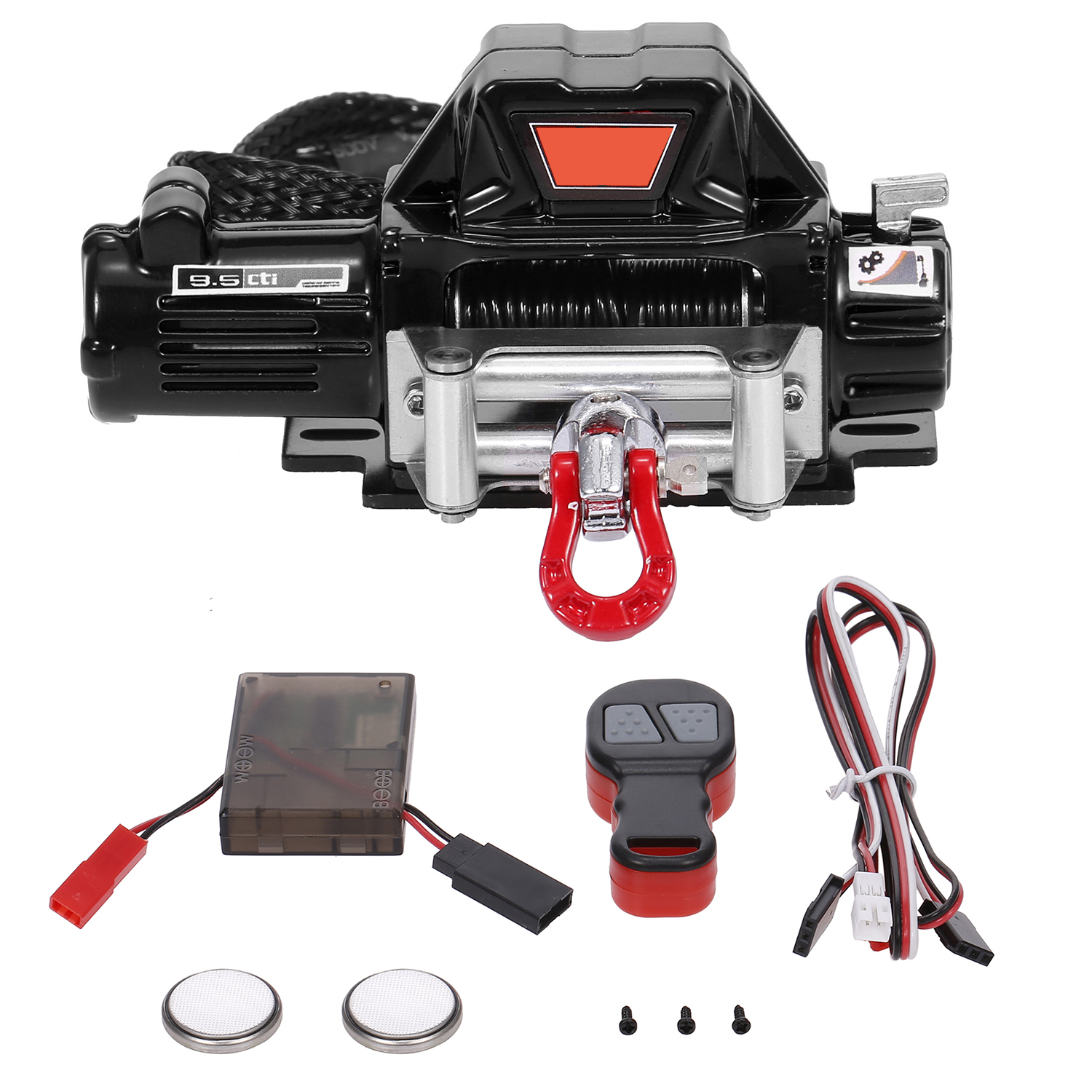 1//10 Rock Crawler Automatic Winch Controller Set+LED Light Bar for RC4WD D90