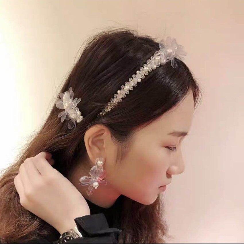 luxury vintage crystal wedding bridal crown pearl hair accessories thin gem baroque headband womens jeweled jewel hair band 2019 in Women 39 s Hair Accessories from Apparel Accessories