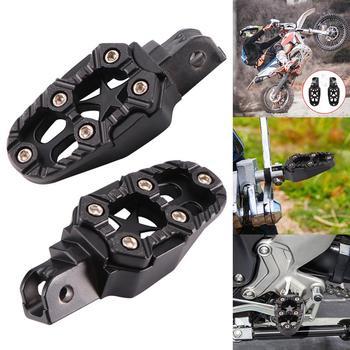 Universal 2 stücke 8mm Metall Motorrad Fußrasten Mit Frühling Off-Road Moto Fußstützen Fuß Peg Pedal Zubehör