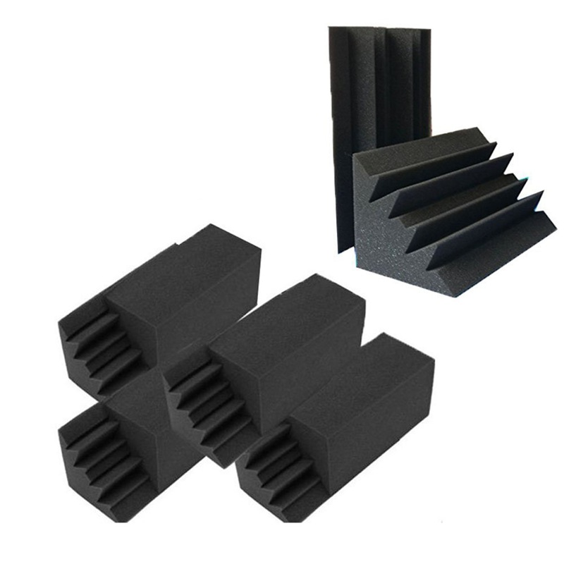 Promotion  New 8 Pack of 4 6 in X 4 6 in X 9 5 in Black Soundproofing Insulation Bass Trap Acoustic Wall Foam Padding Studio Foa