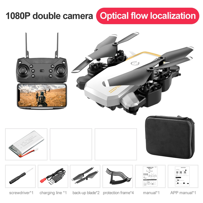 Mini Drone Kids Toys RC Helicopter Long Battery Life Quadcopter 4K Profissional Drone Dual Cameras With Optical Flow HD Drones