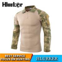 Hlurker tactique armée militaire Sniper Camouflage chasse Base couches Camo Ghillie costumes vêtements de Combat T-Shirts à manches longues gilet
