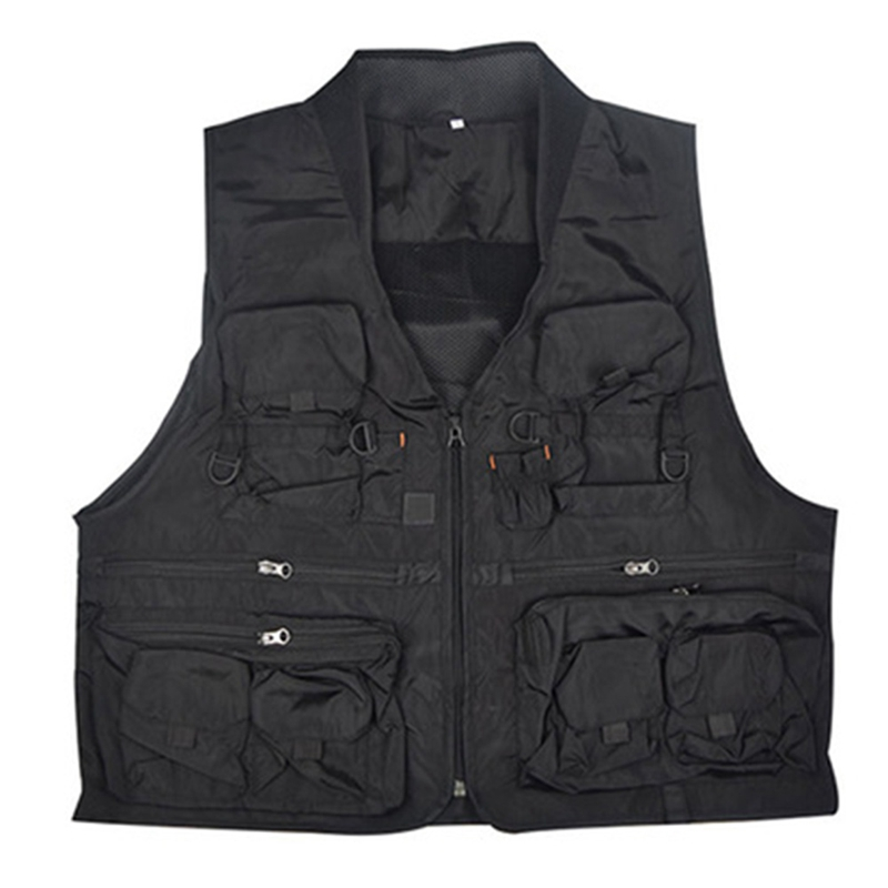ABUO-Korean Fishing Vest Quick Dry Fish Vest Breathable Material Fishing Jacket Polyester Fiber Fish Jacket Photography Vest
