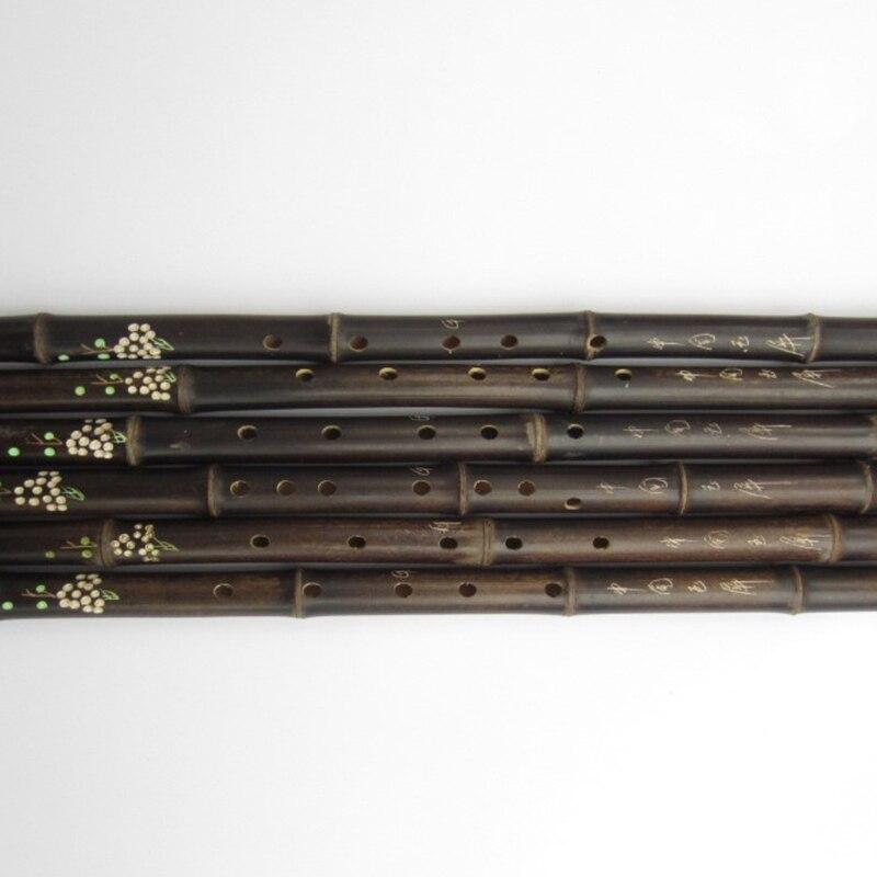 Китайская бамбуковая флейта Xiao вертикальный инструмент 6 отверстий для начинающих