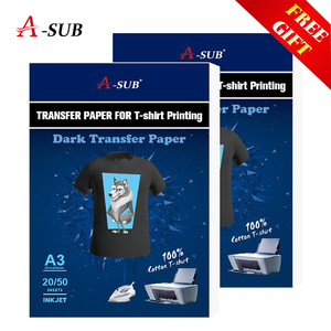 Image 1 - A3/A4 T shirt Transfer paper  for dark color100% Cotton Fabrics Cloth inkjet Printing Design