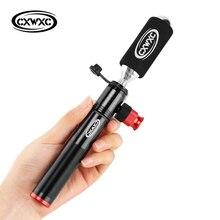 CO2 şişirme el pompası bisiklet için Combo bisiklet pompaları Mini taşınabilir bisiklet pompası vana adaptörü topu hava şişirme bisiklet bisiklet pompası