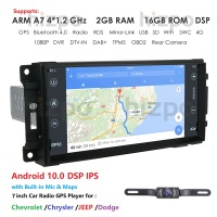 Android 10 Car GPS 7 Player For Wrangler Compass Grand Cherokee 2008 2011 Navigation Multimedia SWC BT DVR TPMS DAB+ OBD Camera