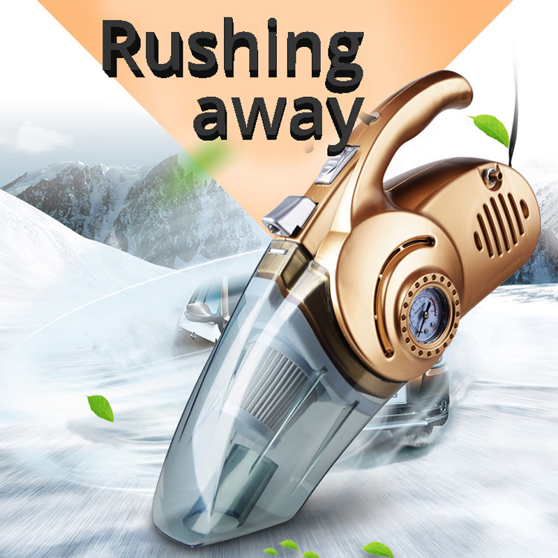 4 In 1  Multifunction Car Vacuum Cleaner 120W Portable Handheld  Wet And Dry Dual Use Home Car Vacuum Aspirateur 12V