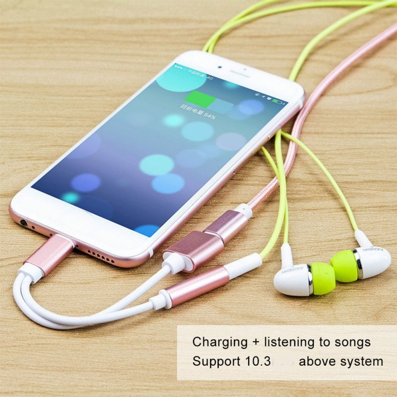 Adapter <font><b>Cables</b></font> For Apple Audio Charging Connector for <font><b>iphone</b></font> X 8 7 Plus XR 11 pro xs max to 3.5mm Headphone Adapter AUX Splitter image
