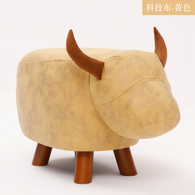 Fashion Creative Calf Animal Shoe Stand, Solid Wood Sofa Stand, Household Foot Stand, Low stool, Small Wood Stand 4