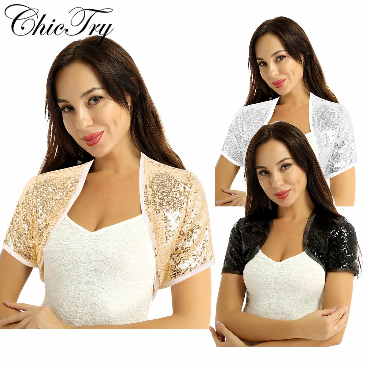 CHICTRY Womens Fashion Half Bell Sleeve Floral Lace Bolero Shrug Shawl Cardigan Top