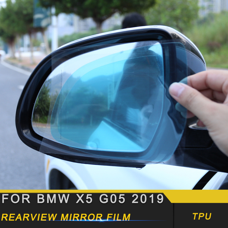 For BMW X5 G05 2019 Car Anti Fog Rearview Mirror Film Rainproof Clear Sticker Side Mirror Protective Waterproof Film