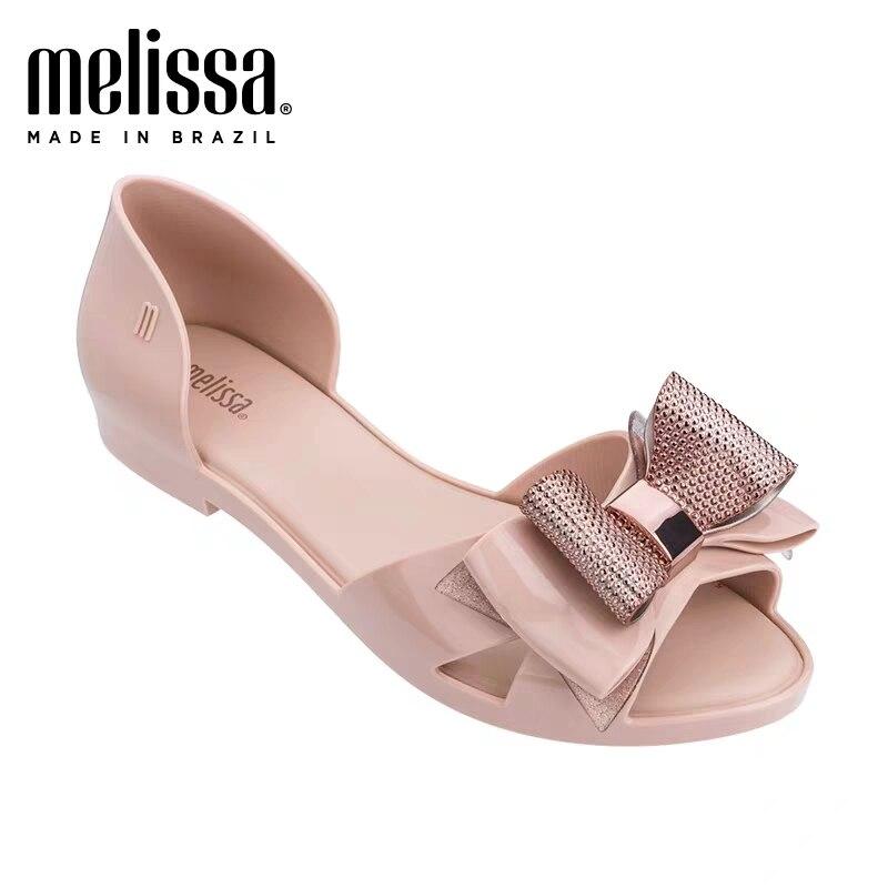 2020 New Melissa Jelly Shoes Original Matel Decoration Lady Sandals Women Sweet Jelly Shoes Melissa Adult Sandals Women Shoes
